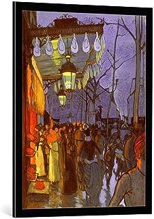 kunst für alle Framed Art Print: Louis Anquetin Avenue de Clichy fünf Uhr abends - Decorative Fine Art Poster, Picture with Frame, 25.6x33.5 inch / 65x85 cm, Black/Edge Grey