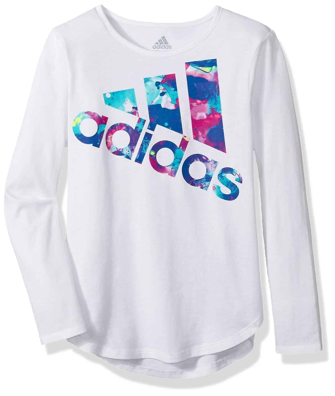 Amazon.com: adidas Girls' Toddler Long Sleeve Logo Tee, Black, 2T ...