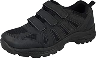 Mens Ladies Hiking Trail Walking Trekking Style Triple Touch Close Strap Trainers Shoes Size 3-12