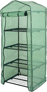 4 Tier Mini Portable Greenhouse Rack Stand Garden Green House for Outdoor Indoor