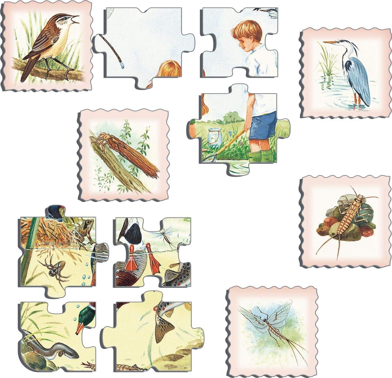 Rahmenpuzzle mit 48 Teilen Deutsch Ausgabe Larsen NA3 Natur-Puzzle Teich