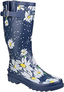 Cotswold Womens/Ladies Burghley Pull On Patterned Wellington Boots