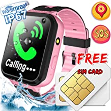Smart Watch for Kids   SIM Card Include   GPS Tracker Kids Smart Watch   GPS / LBS Watches for Girls and Boys   SOS Safety Call Anti -Lost Camera School Mode Learning Tools Game Children Toy