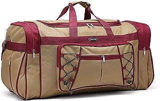Elonglin Travel Duffle Bag Waterproof and Tear Resistant Luggage Handbag Shoulder Bags Khaki