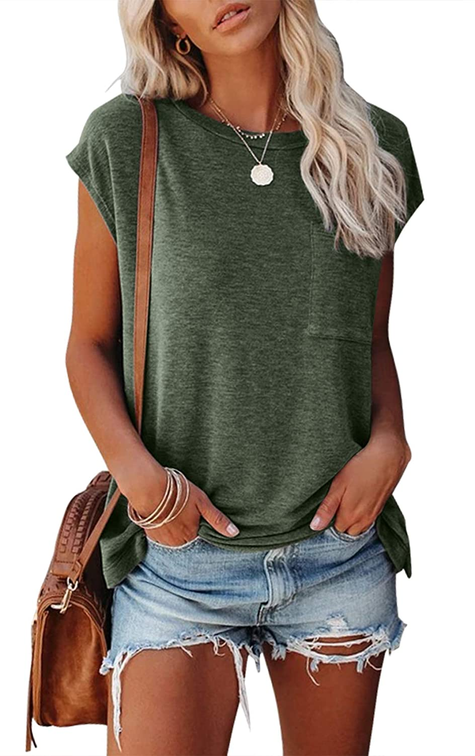 Max 81% OFF Ranking TOP14 MIROL Women's Short Sleeve Tunic Tops Solid Loose T Basic Shirts
