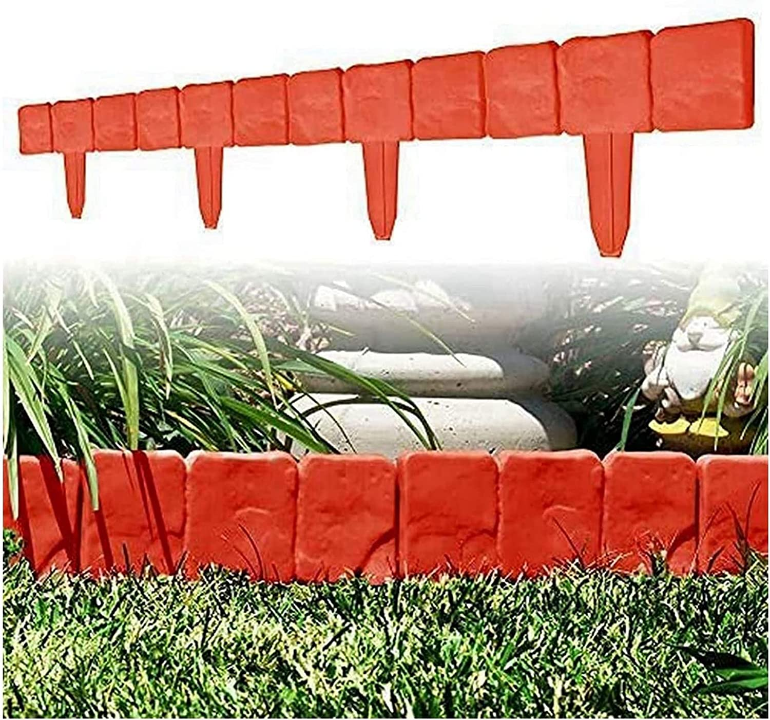 Online limited product TBDY Garden PP Fence Fresno Mall Edging DIY Flower Decorative Bed Bord Grass