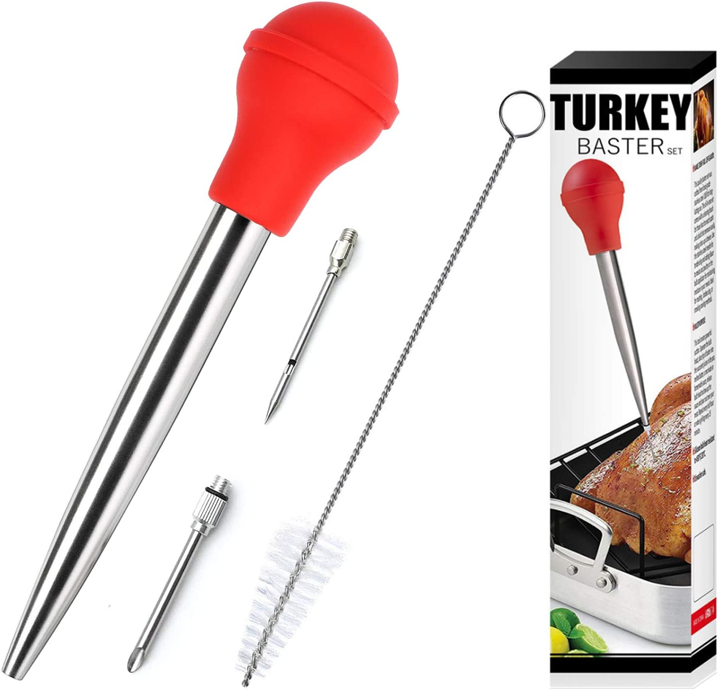 Stainless Steel Turkey Baster Cash special price With Cleaning - El Paso Mall S Grade Food Brush