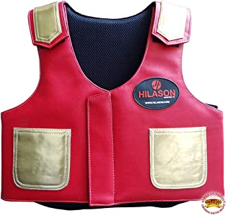 Hilason Bull Riding Vest Kids Junior Youth Bull Pro Rodeo Leather
