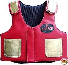 Hilason Bull Riding Vest Kids Junior Youth Bull Pro Rodeo Leather