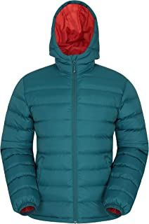Mountain Warehouse Season Mens Padded Jacket - Water Resistant Jacket, Lightweight, Warm, Lab Tested to -30C, Microfibre F...