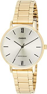 Casio Ladies Gold Dial Gold Ion Plated Band Watch-LTP-VT01G-9BUDF -Analog