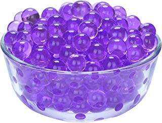 LOVOUS 3000 Pcs Water Beads, Crystal Soil Water Bead Gel, Wedding Decoration Vase Filler - Furniture Decorative Vase Filler, All Occasion Table Centerpiece Decorations (Purple)