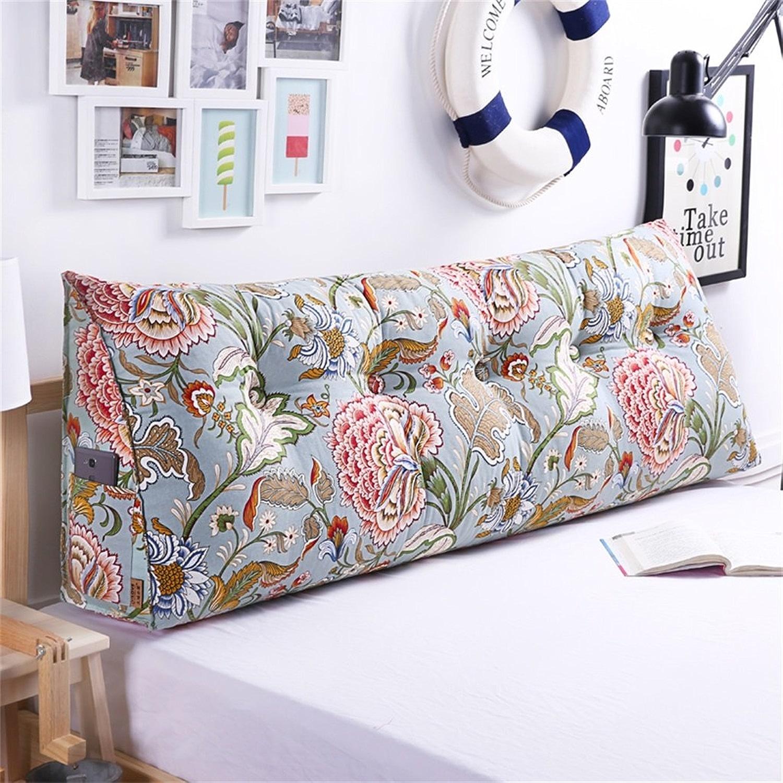 FANG&eiller loisirs chevet soft Case Triangle Grand oreiller Toile Dossier canapé Coussin détachables Coussin sur le lit (couleur   D, taille   70  50  20cm)