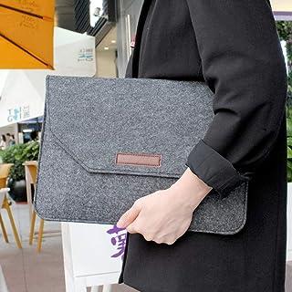 "ZOUJIN Soft Notebook Sleeve Bag Case For Laptop Macbook 11 13 15"" Anti-scratch Bag (Color : Dark grey, Size : 13 inch)"