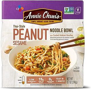 Annie Chun's Peanut Sesame Noodle Bowl | Non-GMO, Vegan, Shelf-Stable, 8.7 Ounce (Pack of 6) | Thai-Style Microwaveable Ready Meal