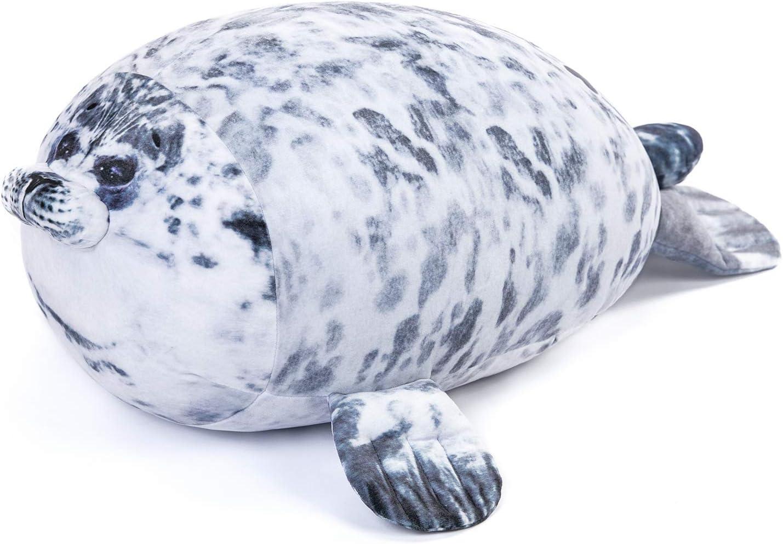 60 Cm Chubby Blob Seal Plush Toy Cute Ocean Pillow Pet Plush Doll Xmas Gift US