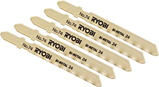 リョービ(RYOBI) ジグソー刃 Bタイプ 鉄工・ステンレス用 5本組 J-6500V J-6500VDL J650VDL用 No.74 6641627