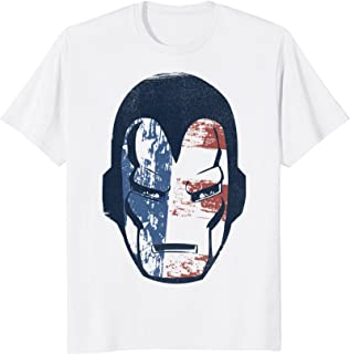 Marvel Iron Man American Flag Face Vintage Graphic T-Shirt