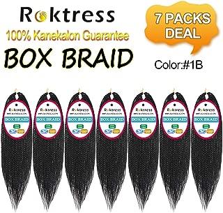 Roktress Box Braid Hair Crochet Box Braids 100% Kanekalon Synthetic Braiding Hair (20