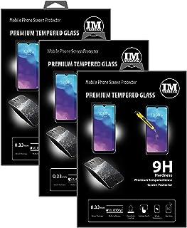 cofi1453 3X pansarskydd glas 9H härdat glas display skydd folie display glas skärmskydd kompatibel med ZTE Blade A7 2020