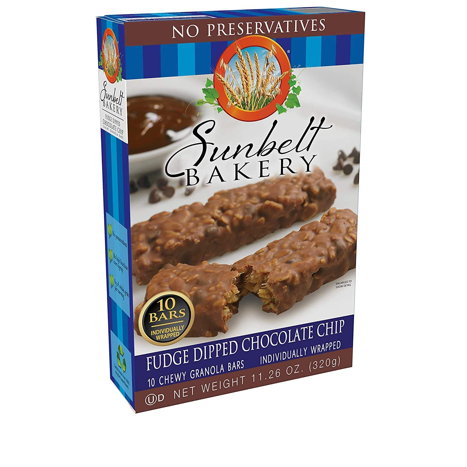 Sunbelt Ultra-Cheap Deals Fudge-Dipped Special price CHOCOLATE CHIP Granola Bars 15-Count Chewy