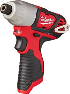 Milwaukee 2462-20 M12 1/4 Inch Hex Shank 12 Volt Lithium Ion Cordless 2,500 RPM 1,000 Inch Pounds Impact Driver w/ LED Light and Fuel Gauge (Battery Not Included, Power Tool Only)