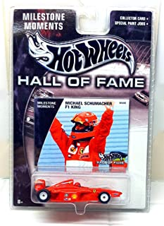 F1 Race Car 2002 Milestone Moments Hot Wheels Hall of Fame Michael Schumacher F1 King 1:64 Scale Collectible Die Cast Metal Toy Car Model