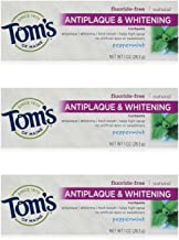 Tom's of Maine Natural Antiplaque Tartar Control & Whitening Toothpaste Peppermint 1 oz Travel Size (Pack of 3)