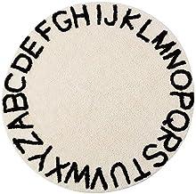 Alphabet 40cm Homieco rond Cristal Velours B/éb/é Tapis De Jeu Mignon Dessin Anim/é Enfants Tapis De M/énage Enfant Tente P/épini/ère Chambres D/écoration