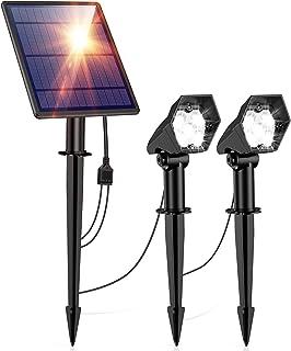Solar Lights Outdoor, Solar Landscape Spotlights,2-in-1 Waterproof 5 LED Solar Lights Wall Lights Auto On/Off Outdoor Sola...