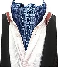 MENDENG Men Purple Paisley Jacquard Woven Silk Cravat Necktie Scarf Formal Ascot