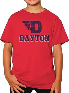 Original Retro Brand NCAA Dayton Flyers Youth Boys Tee, Small, Red