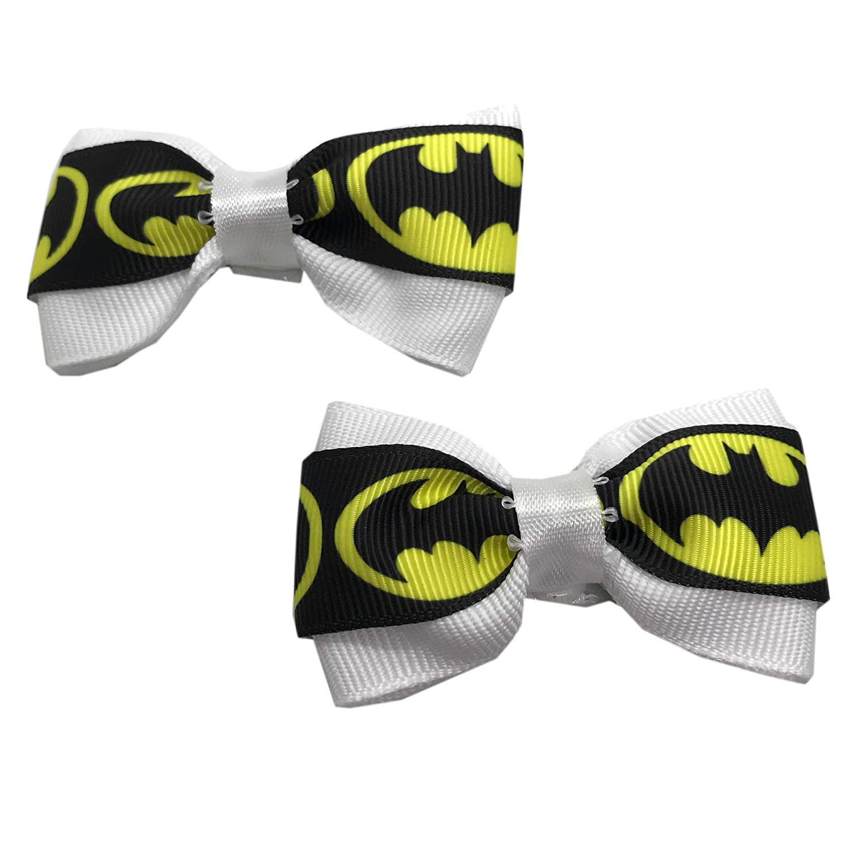 Handmade Batman Girls Hair Max 62% OFF Bow Set Girl Ha Bows Very popular! Little Pigtail