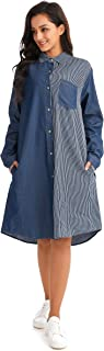 ZXNY Women's Button-Down Shirt Dress
