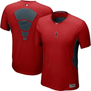 NIKE Los Angeles Angels Anaheim MLB Pro Combat Hypercool DriFit AC Fitted Tshirt