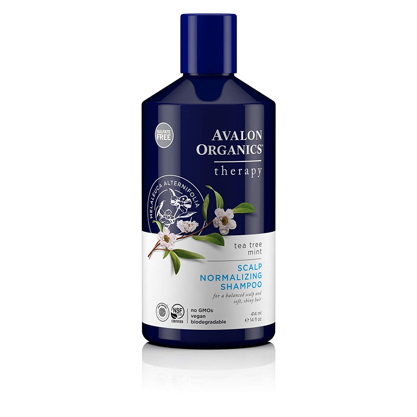 ブローホール癒すふつうAvalon Organic Botanicals Shampoo Tea Tree Mint Treatment, 415 ml (並行輸入品)