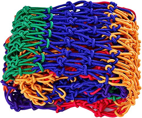 Filet antichute de couleur for enfants, multiCouleure, école maternelle, balcon, garde-corps, filet, corde, structure tissée à la main, structure traditionnelle, grille 4mm  12cm (taille  2  3m)