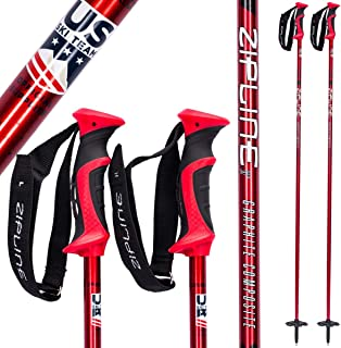 fe6fc2633350 Zipline Ski Poles Carbon Composite Graphite Blurr 16.0 U.S. Ski Team  Official Ski Pole (Downhill