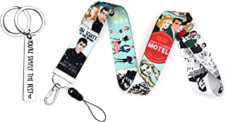 Schitts Merchandise Creek Keychain and Lanyard,YOU'RE SIMPLY THE BEST Inspirational Keychain and Funny Tv Show Lanyard for...