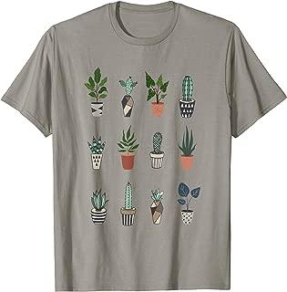 Succulent Cactus Plant Lover Leaf T-Shirt
