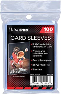 Ultra Pro Soft Card Sleeves 2-5/8-Inches X 3-5/8-Inches, Ultra Clear