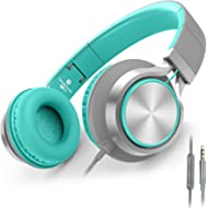 AILIHEN C8 Headphones with Microphone and Volume Control Folding Lightweight Headset for...
