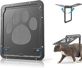 CATOOP Pet Dog Cat Screen Door, Pet Screen Door Protector for Sliding Door, Automatic Lock/Lockable
