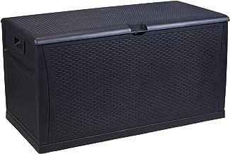 Wonlink Wicker Storage Trunk,Patio Storage Box Waterproof,150 Gallon Deck Box