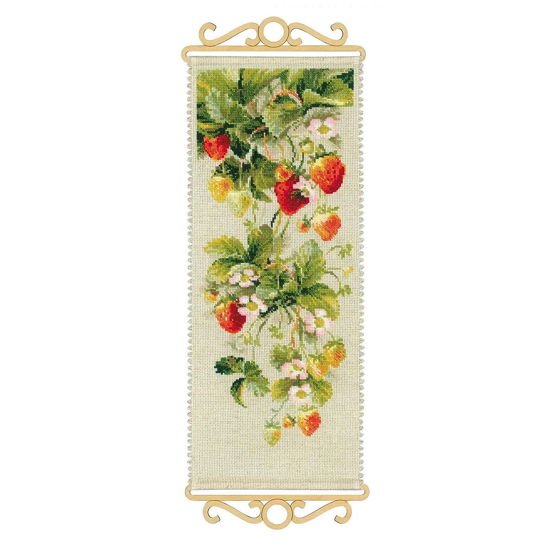 RIOLIS 1551 Strawberry Cross Stitch Kit 14 Count, 7.5