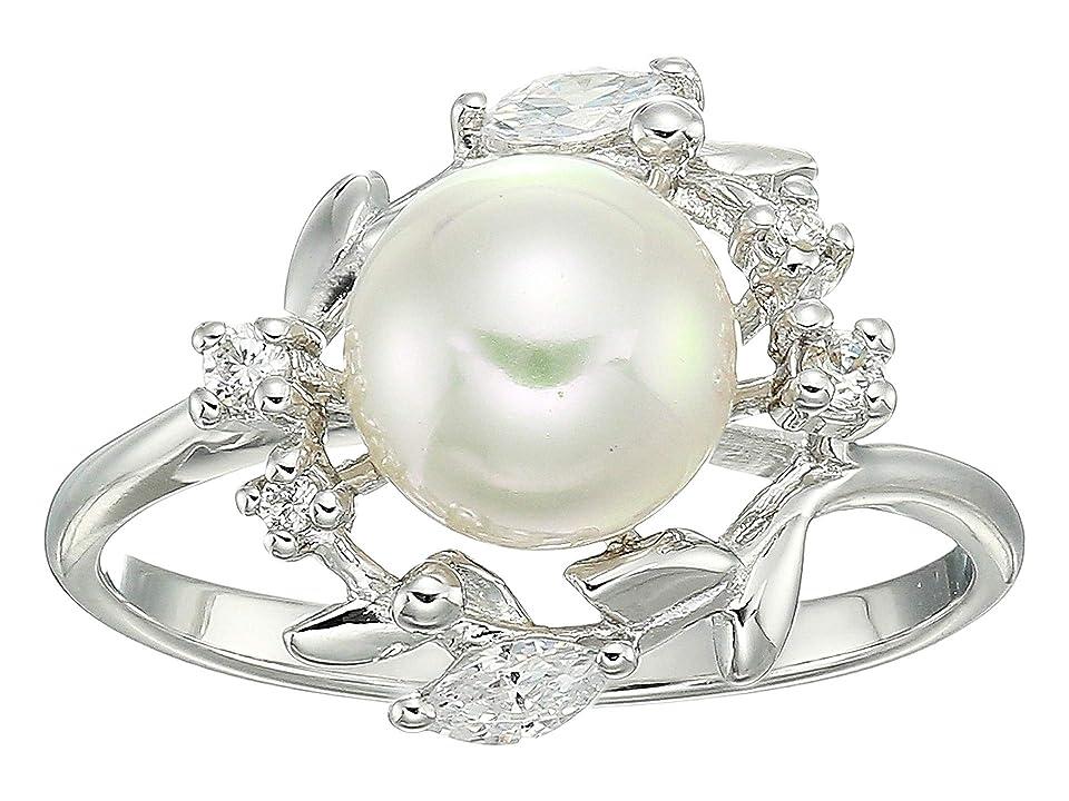 Majorica - Majorica Romance 8 mm Pearl on Sterling Silver Ring