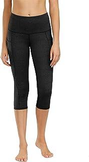 High Waist Yoga Pants Tummy Control Workout Running 4 Way Stretch Yoga Leggings Women Capris Pants