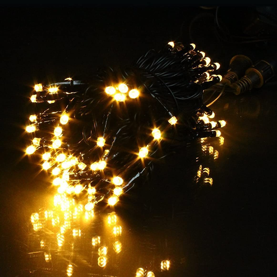 ドラゴンミルク傀儡バラエティ本舗 イルミネーション ストレート 30m 300球 ブラックケーブル(シャンパンゴールド)