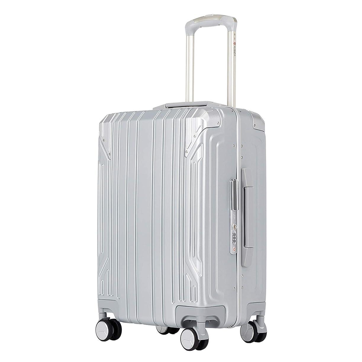 哀れな健康的州クロース(Kroeus)スーツケース キャリーケース PC100%ボディ高強度 TSAロック搭載 8輪 アルミフレーム S型機内持ち込み可 日本語取扱説明書 1年間保証付き