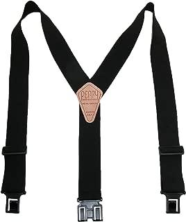 Perry Suspenders SN200 Men's Clip-On 2-in Suspenders Black